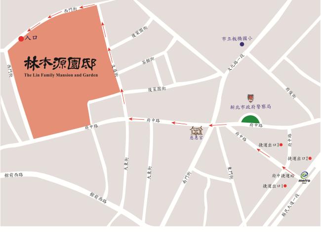 府中捷運站指示圖